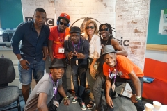 Mokoomba with Cerys Matthews at BBC Radio 6 Music